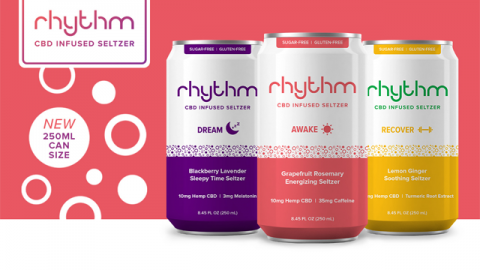 Rhythm CBD Seltzers Designs 'Shorties' for Cocktail Mixing or Hotel Minibars and Partners with Danlies for Bay Area Expansion